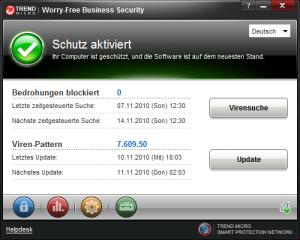 So schaut er aus, der neue Trend Micro Security Agent.